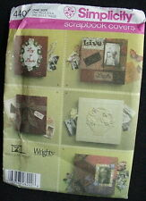 Simplicity Pattern 4407, Scrapbook Covers, Copyright 2005, 5 Different Covers