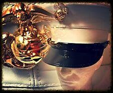 USMC BERNARD  CAP MARINE CORPS DRESS BLUES HAT White VINYL Cover Sz 6 3/4 NWOB