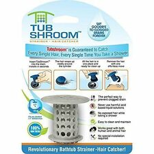 Tubshroom Hair Catcher Strainer Drain Protector for Tub 100 Authentic Gray