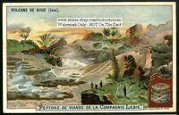 Volcano Java Indonesia 1902 Trade Ad Card