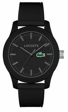 Men's Black Lacoste L1212 Silicone Strap Watch 2010766
