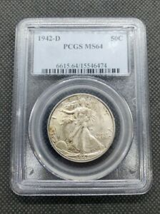 1942-D Walking Liberty Half Dollar | PCGS MS64