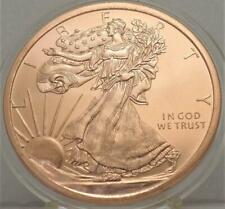 WALKING LIBERTY ~1 oz .999 COPPER round **IN NEW CAPSULE # B 5