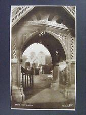 Stoke Poges Church Front Gate United Kingdom UK Real Photo Postcard RPPC
