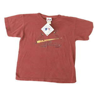 MLB St. Louis Cardinal Majestic Red T Shirt Kids Youth Size Medium 8-10 NWT