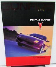 1998 Pontiac Canadian Dealer Prestige Sales Brochure Sunfire English Text