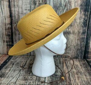 San Francisco Hat Company Panama Hat Sz S Woven Straw Packable Sun Beach Cruise