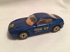 1994 Matchbox Blue Ferrari 456 Gt Gold Wheels Variation Excellent 1:61 Diecast