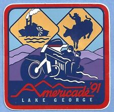 "Americade 1991 Lake George NY Rodeo and Steamboat Decal Sticker Approx 3"" x 3"""