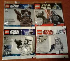 LEGO Star Wars Chrome Vader White Fett Shadow ARF Chrome Stormtrooper lot VHTF