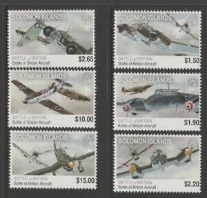 SOLOMON ISLANDS 2008 75th ANNIVERSARY of Royal Air Force Design Set MNH $4.50