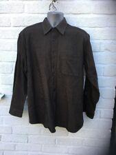 Nicolas Scholz Shirt 100% Cotton. Brown With Black Stitch. Size L . Ex Condition