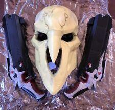 Overwatch Reaper Mask &  (2) Guns Cosplay Halloween NEW!!! USA Sellers