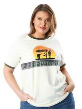 Koko Womens Plus Size Savanna Slogan T-Shirt