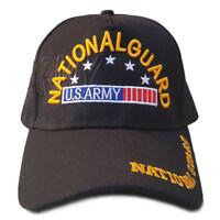 US Army Hat National Guard Black Adjustable Cap