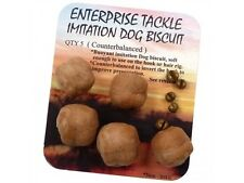 ENTERPRISE TACKLE IMITATION COUNTER BALANCED DOG BISCUITS 5pcs FOR CARP FISHING