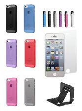 TPU Clear Silicone Gel Soft Case Cover For iPhone 4/4S free stylus screen stand