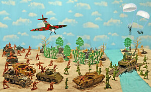 """WWII A Bridge Too Far set #1 - """"The British Attack"""" - 54mm Plastic Toy Soldiers"""