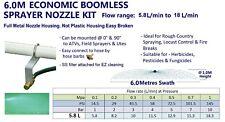 ECONOMIC 6M SWATH BOOMLESS FLAT SPRAYER NOZZLE KIT 5.8L WEED SPOT SPRAY TANK