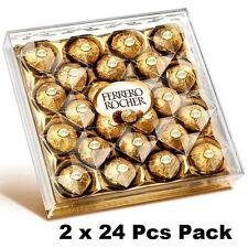 2 BOXES OF 24 x FERRERO ROCHER  CHOCOLATES – 300G PER BOX