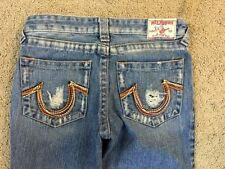 True Religion Woodstock Rainbow Embroidered Pockets Womens Jeans Sz 28 X 32 NWT