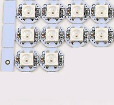 10 Pack - WS2812B RGB LED Mini Button PCBs - White PCB