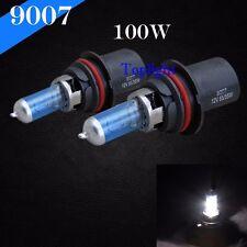 Super White 9007-HB5 Xenon 5000K 100/80w Halogen Headlight Light Bulb Hi/Lo Beam