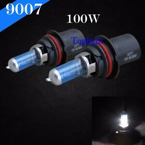 9007-HB5 White 5000K 100w Xenon Halogen Headlight 2x Light Bulb High Low Beam