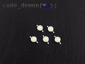 New 1W LED Cool White LED 3.3V 6500K (x5) - Arduino AVR / PIC / Raspberry Pi