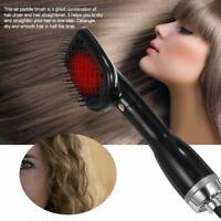 Ion Hair Dryer & Styler Hot Air Comb Paddle Brush Straightener Negative 2 in 1