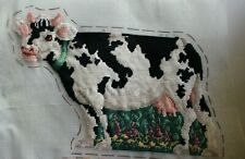 New listing Milk Cow Black White Spotted Needle Treasures Needlepoint Completed Finished