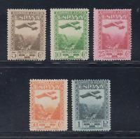 ESPAÑA (1931) SERIE NUEVA SIN FIJASELLOS MNH - EDIFIL 650/54 MONTSERRAT LOTE 1