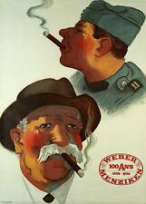 Original Plakat - Weber-Menziken-Tabak