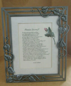 """CONNOISSEUR """"PROMISE YOURSELF"""" LARGE DECORATIVE PICTURE FRAME 12 1/4"""" X 10 1/4"""""""