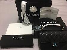 CHANEL 17C Black Caviar Rectangle Mini Classic Flap- BRAND NEW & 100% Authentic