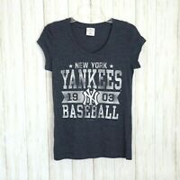 Campus Lifestyle Blue NY Yankees Baseball Tee TShirt Size Medium Womens Blouse