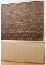 Classic Home Panels Tin Style Ceiling Wall Tiles Bronze Indoor/Outdoor Decor