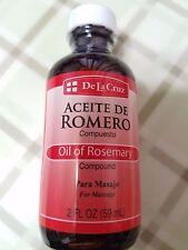 Oil of Rosemary De La Cruz for massage.  Aceite de Romero 2 fl oz  made in USA.