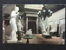 Vintage Postcard - Derbyshire #60 - RP Chatsworth, Statuary Gallery - 1904