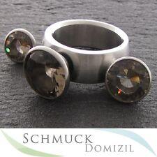 MelanO STURDY Kollektion - Ring Aufsatz KONISCH / RAUCHQUARZ Zirkonias 8 mm