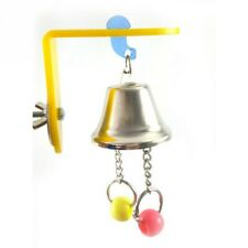 Parrot Bells Toys Birds Play Chewing Hanging Cage Bite Accessories Bead Parakeet