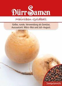 Mairüben Samen Goldball Butterrüben Dürr Rüben Rübe ca 300 Korn Gelb Gemüse Saat