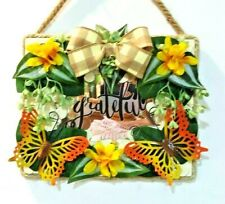 BUTTERFLY decorative wall hanging craft frame with puzzle pieces