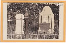 Real Photo Postcard RPPC - Tombstone Grave Site Kit Carson and Wife