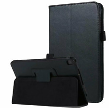 Samsung Galaxy Tab A 8.0 2019 T290 T295 BLACK PU Leather Case Cover UK StocK