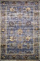 8x11 Area Rug Persian Oriental Traditional Floral Design Antique Look Blue New
