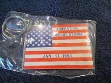 Operation Desert Storm Key Chain Jan 17 1991 / Mint / Army Military War