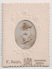 Vintage Mini Framed Photo King Edward VII of Great Britain size 2.75 X 4 Inches