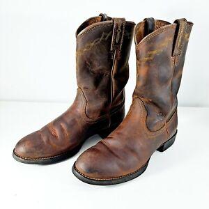 Ariat Heritage  Roper Womens Cowboy Boot Sz 8.5B Distressed Brown 10000797 14525