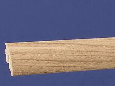 40 mm Clip Sockelleiste - Softline - Länge 2,6 Meter Dekor Nussbaum Hell